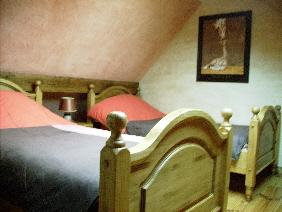 Chambre 2 lits à l`étage
